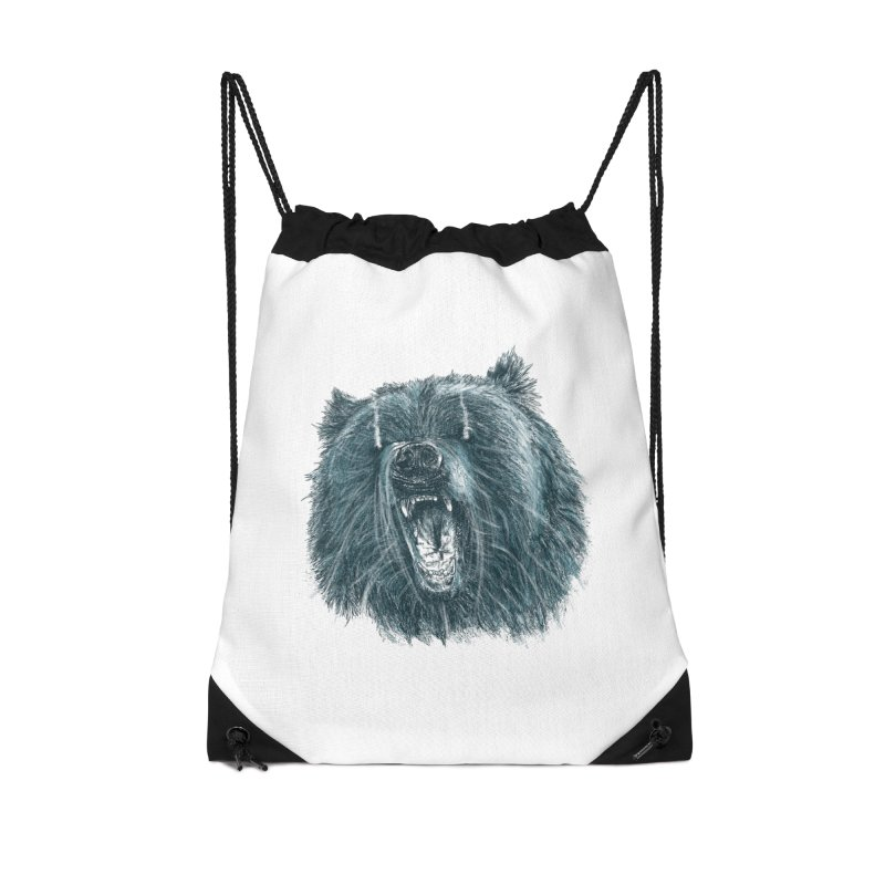 beast bear Accessories Drawstring Bag Bag by gupikus's Artist Shop