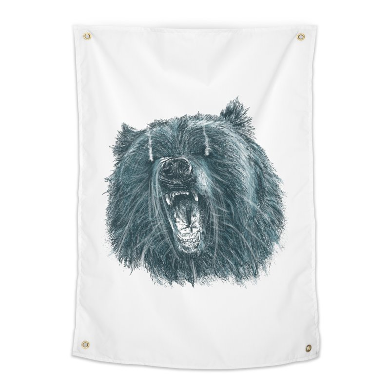beast bear Home Tapestry by gupikus's Artist Shop