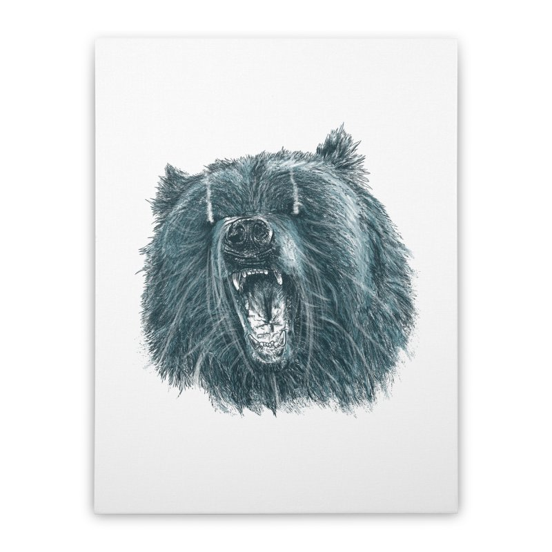 beast bear Home Stretched Canvas by gupikus's Artist Shop