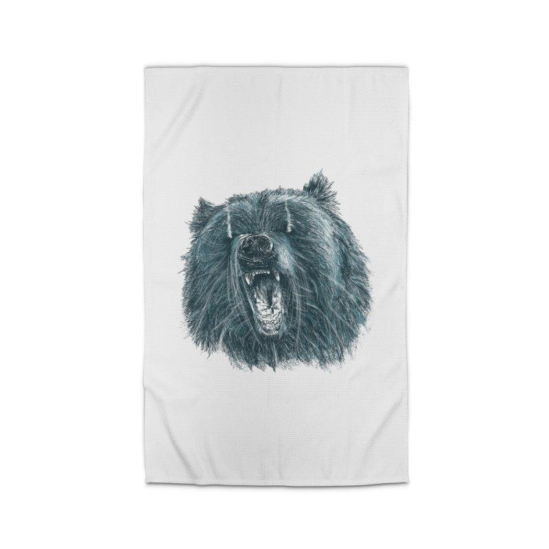 beast bear Home Rug by gupikus's Artist Shop