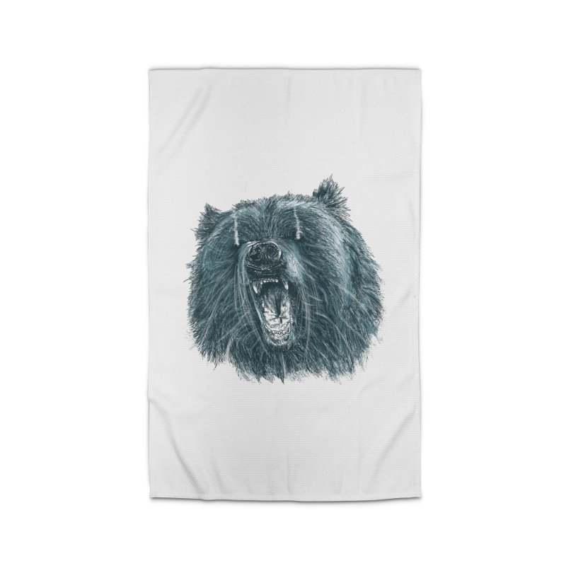 beast bear Home Rug by gupikus's Artist Shop