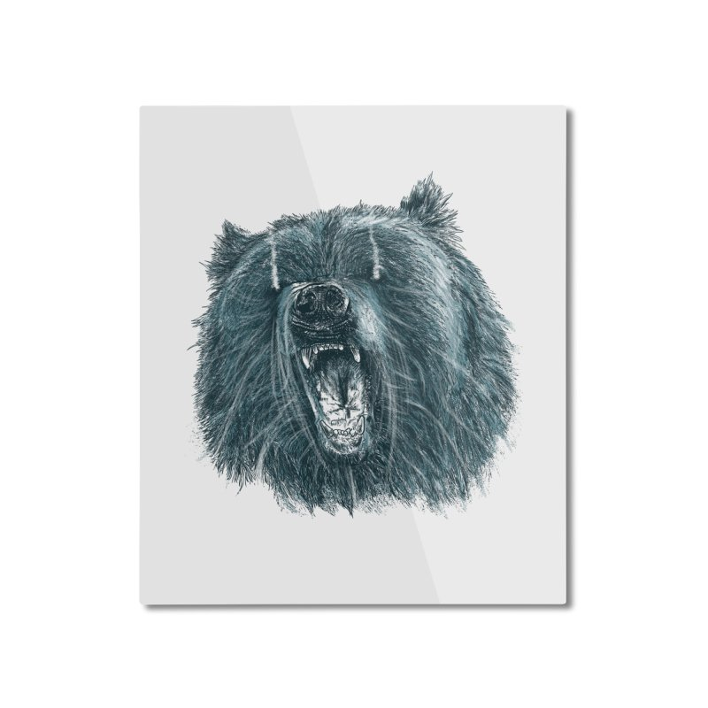 beast bear Home Mounted Aluminum Print by gupikus's Artist Shop