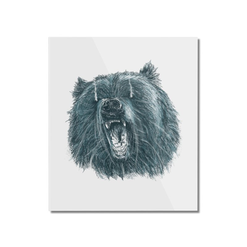 beast bear Home Mounted Acrylic Print by gupikus's Artist Shop