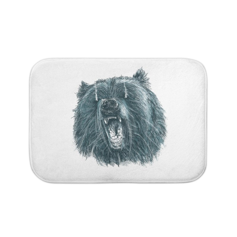 beast bear Home Bath Mat by gupikus's Artist Shop