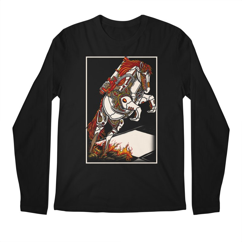 the darkness knight Men's Regular Longsleeve T-Shirt by gupikus's Artist Shop