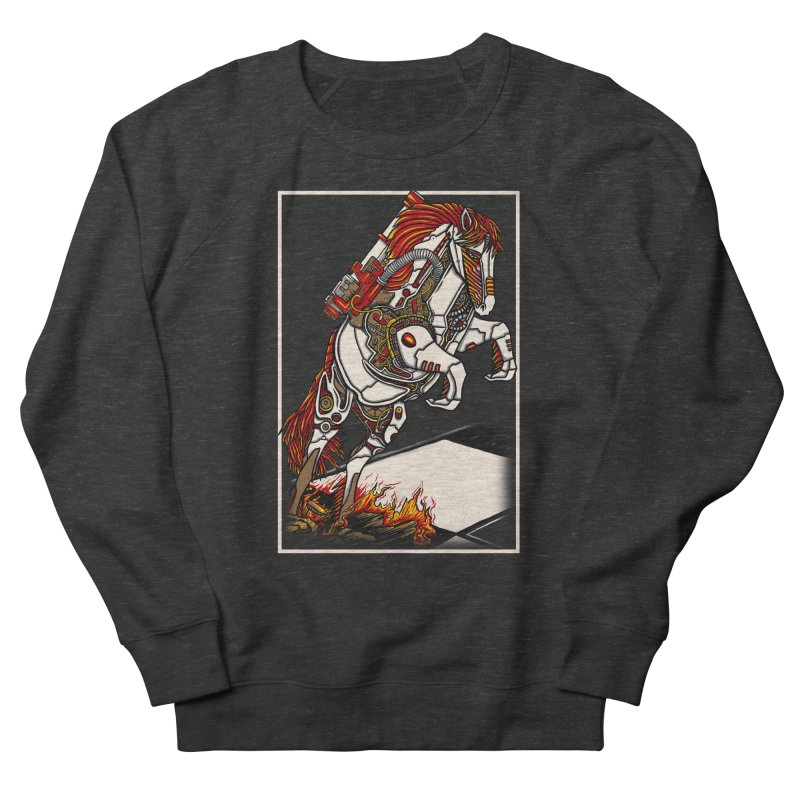 the darkness knight Men's French Terry Sweatshirt by gupikus's Artist Shop