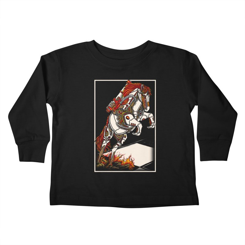 the darkness knight Kids Toddler Longsleeve T-Shirt by gupikus's Artist Shop