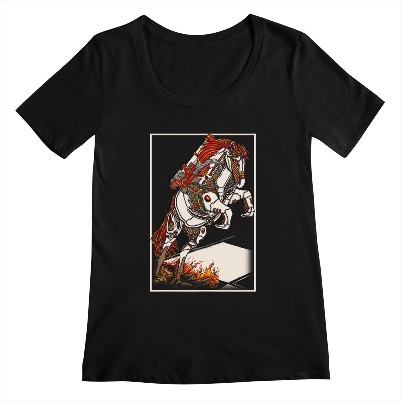 the darkness knight Women's Scoopneck by gupikus's Artist Shop