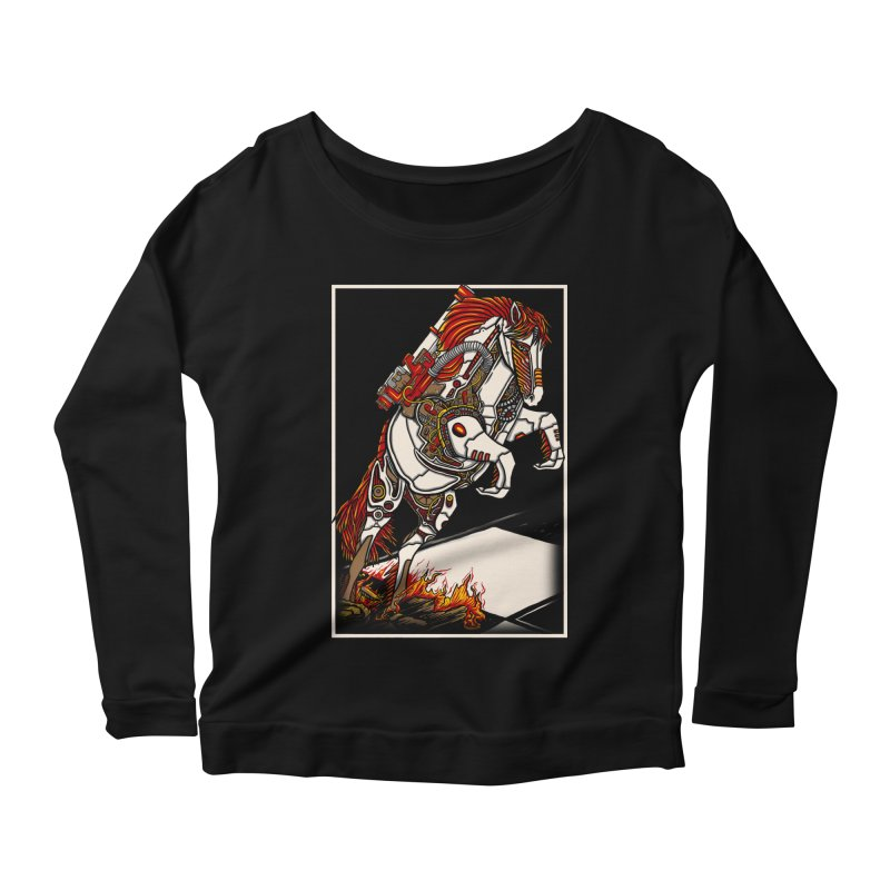 the darkness knight Women's Scoop Neck Longsleeve T-Shirt by gupikus's Artist Shop