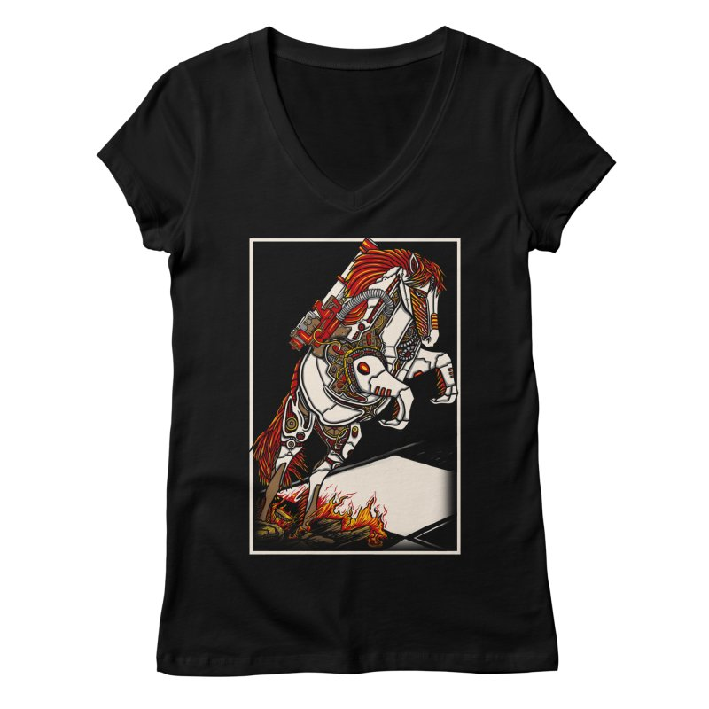 the darkness knight Women's V-Neck by gupikus's Artist Shop