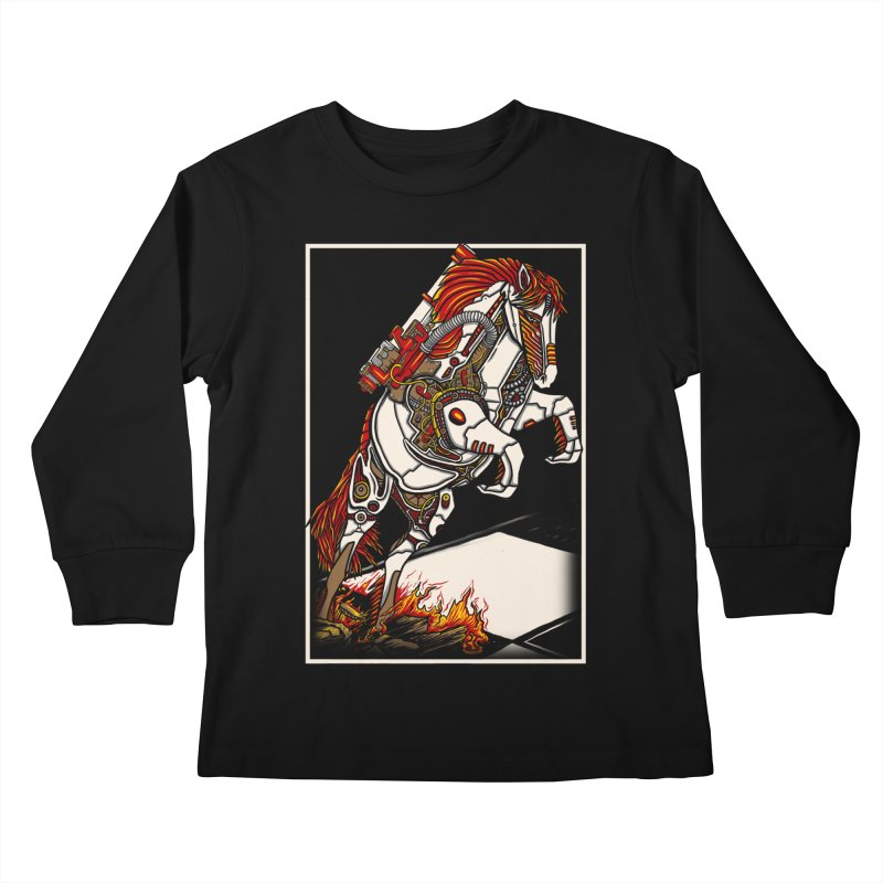 the darkness knight Kids Longsleeve T-Shirt by gupikus's Artist Shop