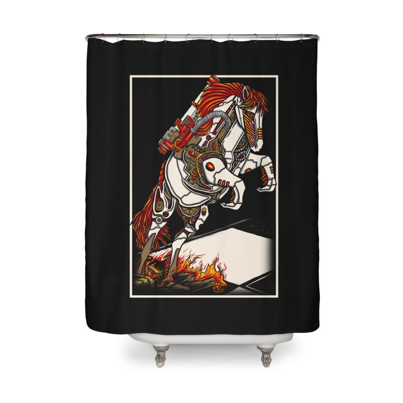 the darkness knight Home Shower Curtain by gupikus's Artist Shop