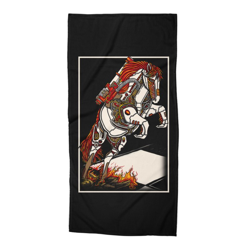 the darkness knight Accessories Beach Towel by gupikus's Artist Shop