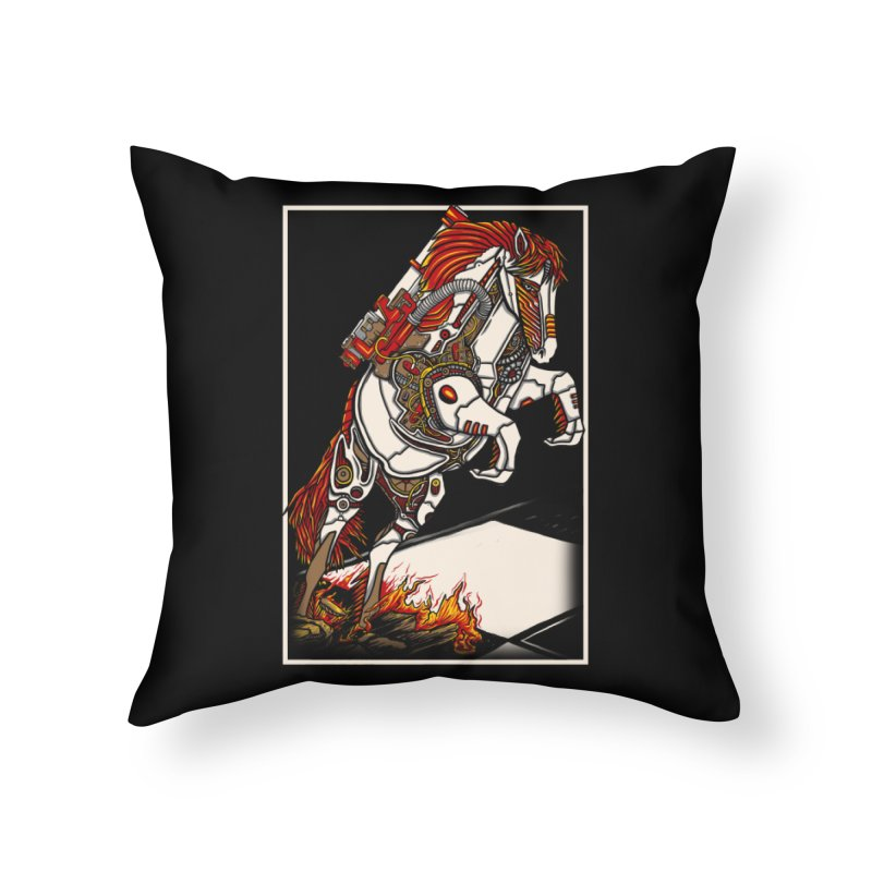 the darkness knight Home Throw Pillow by gupikus's Artist Shop