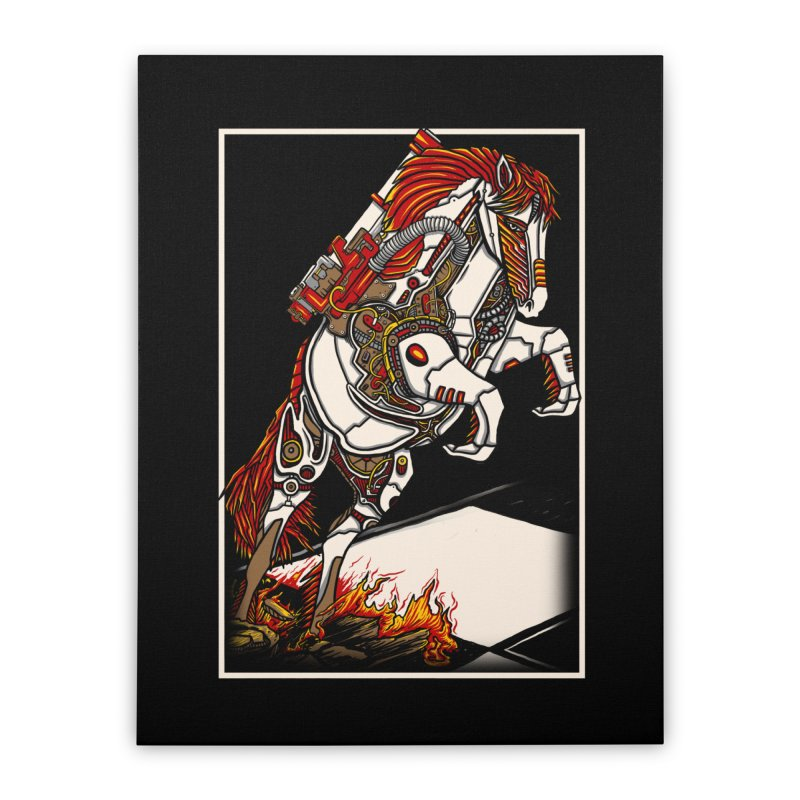 the darkness knight Home Stretched Canvas by gupikus's Artist Shop