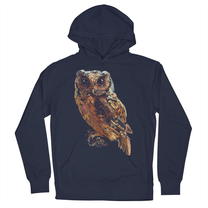 dark owl Men's French Terry Pullover Hoody by gupikus's Artist Shop