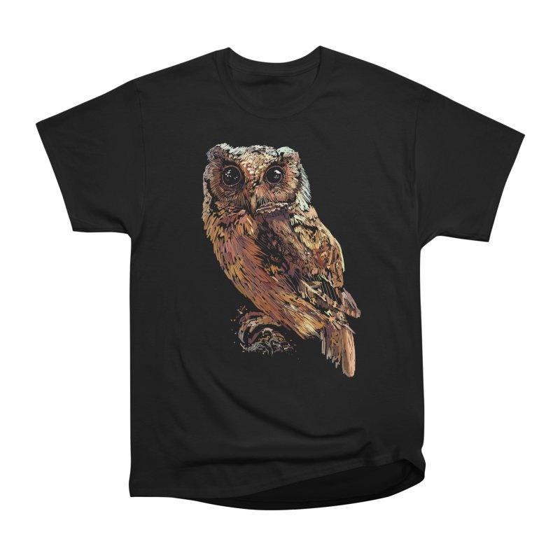dark owl Men's Heavyweight T-Shirt by gupikus's Artist Shop