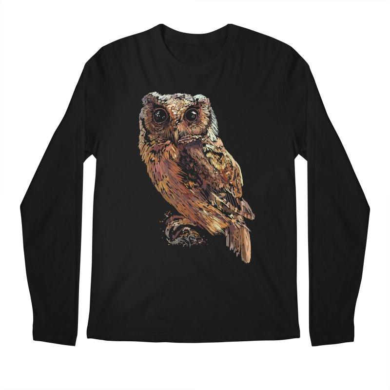 dark owl Men's Longsleeve T-Shirt by gupikus's Artist Shop