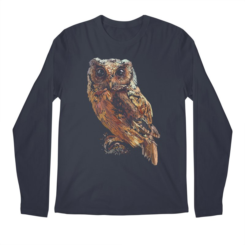 dark owl Men's Regular Longsleeve T-Shirt by gupikus's Artist Shop