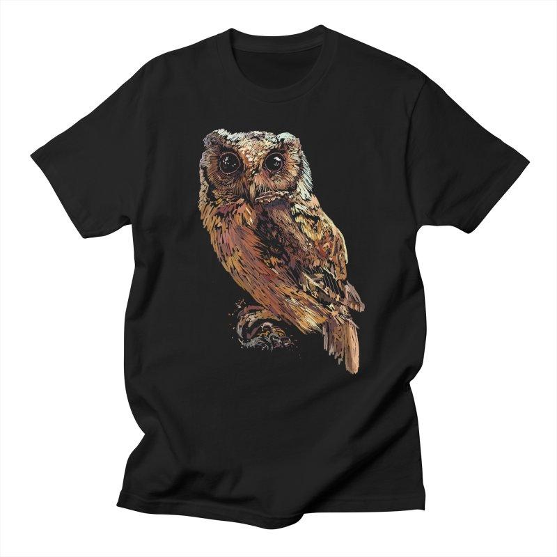 dark owl Men's Regular T-Shirt by gupikus's Artist Shop