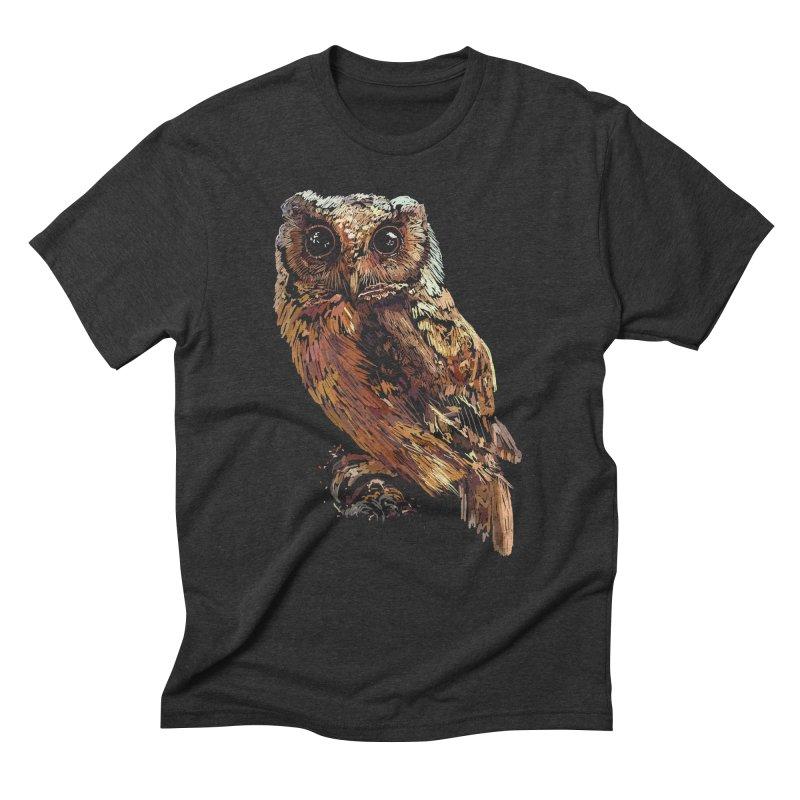 dark owl Men's Triblend T-Shirt by gupikus's Artist Shop