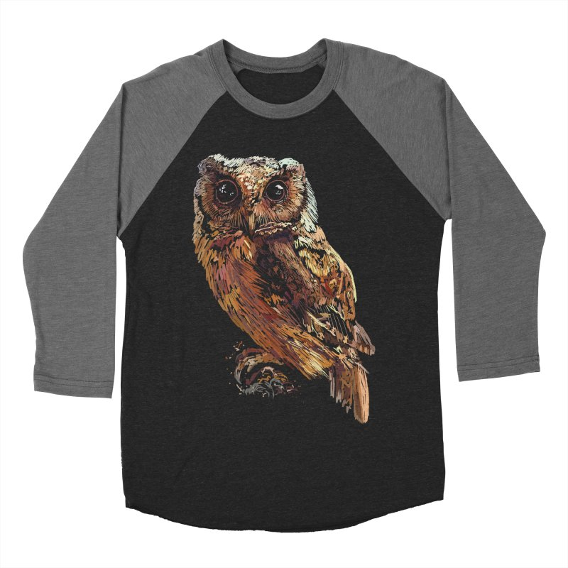 dark owl Men's Baseball Triblend Longsleeve T-Shirt by gupikus's Artist Shop