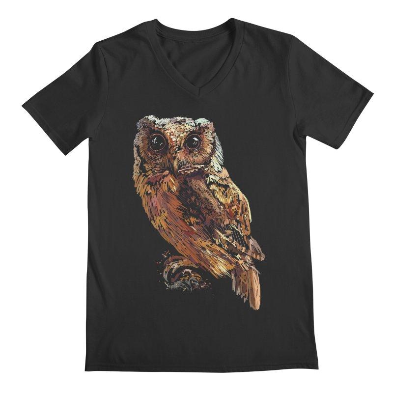 dark owl Men's V-Neck by gupikus's Artist Shop