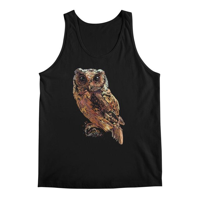 dark owl Men's Tank by gupikus's Artist Shop
