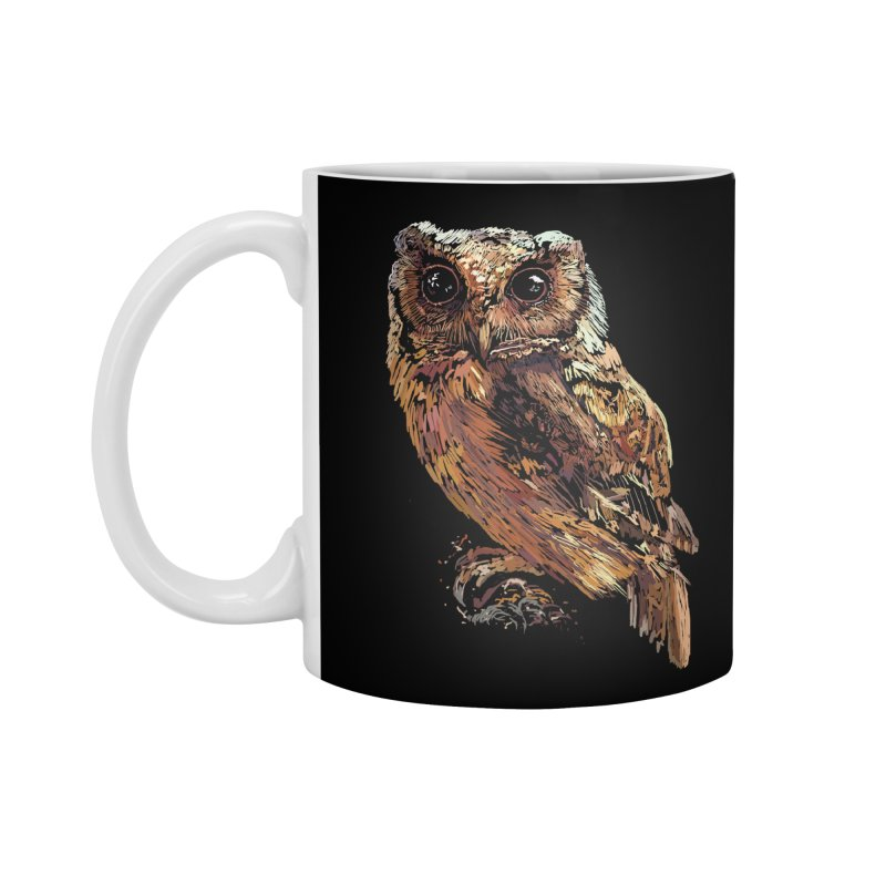 dark owl Accessories Standard Mug by gupikus's Artist Shop