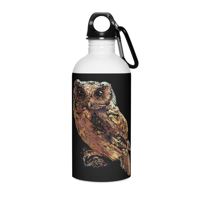 dark owl Accessories Water Bottle by gupikus's Artist Shop