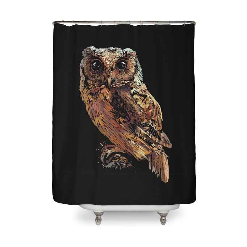 dark owl Home Shower Curtain by gupikus's Artist Shop