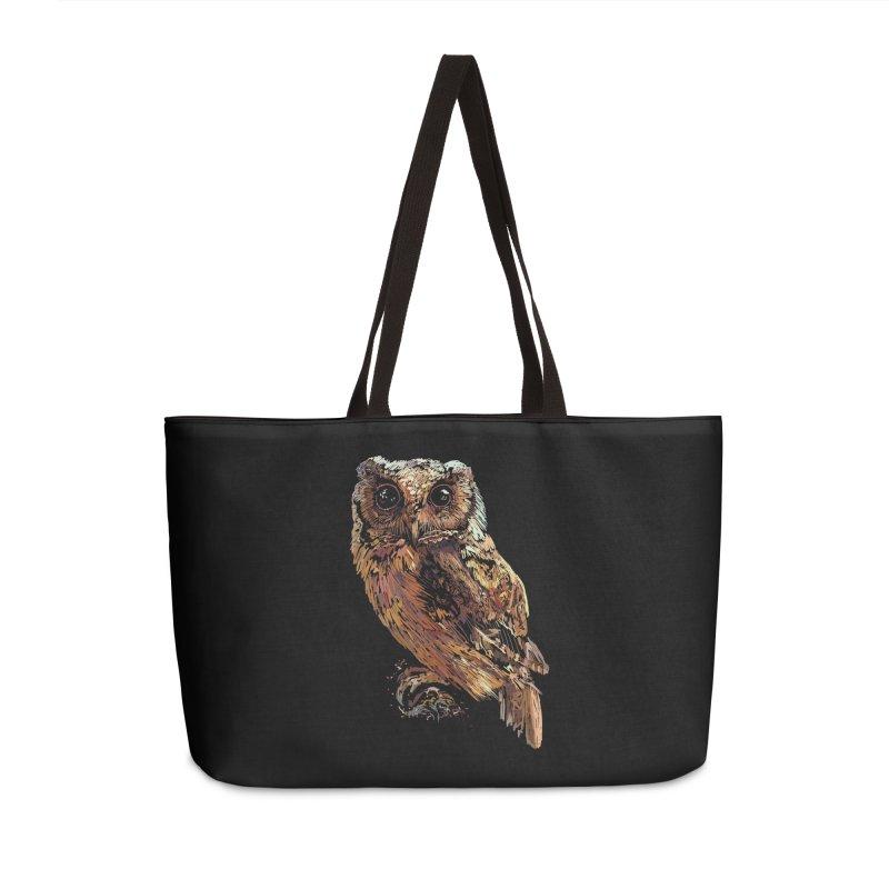 dark owl Accessories Weekender Bag Bag by gupikus's Artist Shop