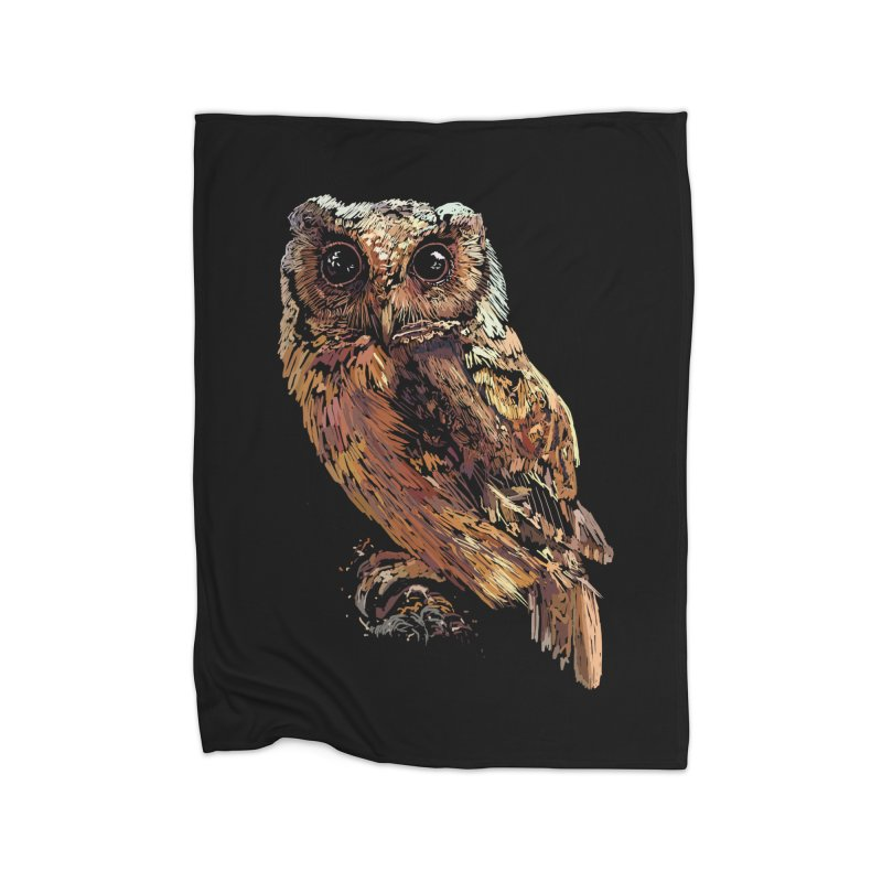 dark owl Home Blanket by gupikus's Artist Shop