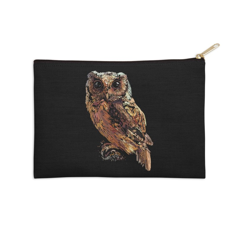 dark owl Accessories Zip Pouch by gupikus's Artist Shop