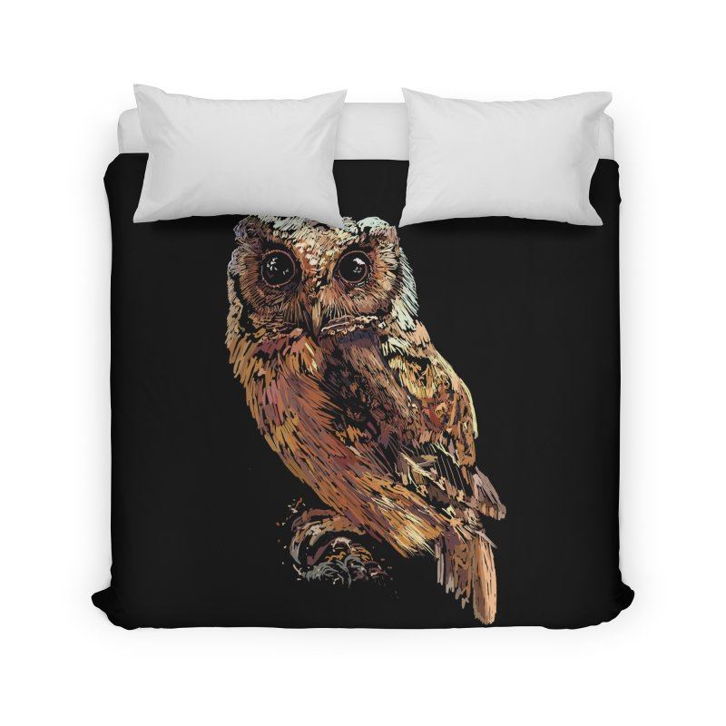 dark owl Home Duvet by gupikus's Artist Shop