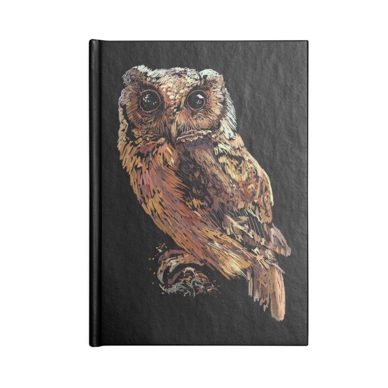 dark owl Accessories Lined Journal Notebook by gupikus's Artist Shop