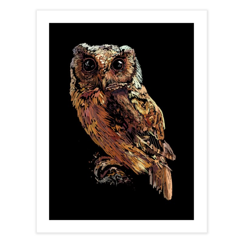 dark owl Home Fine Art Print by gupikus's Artist Shop