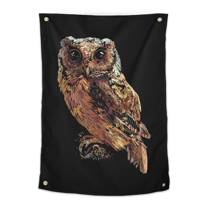 dark owl Home Tapestry by gupikus's Artist Shop