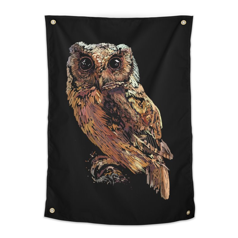 dark owl Home Tapestry by gupikus's Artist Shop