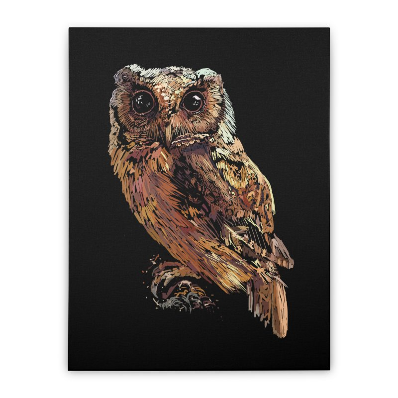 dark owl Home Stretched Canvas by gupikus's Artist Shop