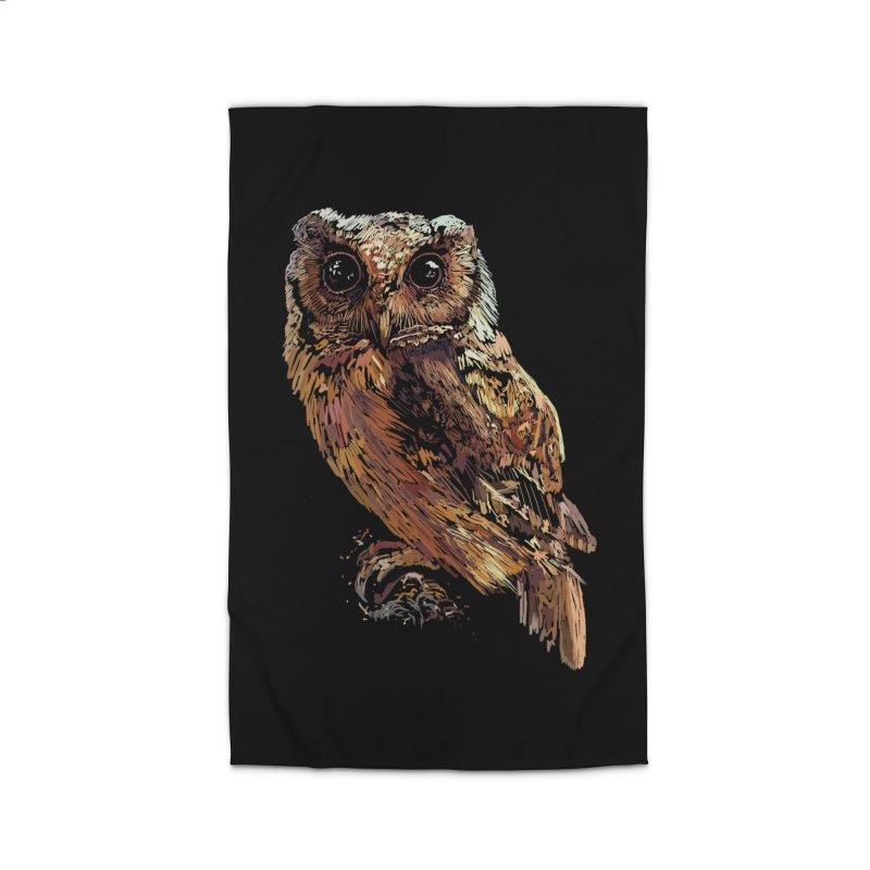 dark owl Home Rug by gupikus's Artist Shop