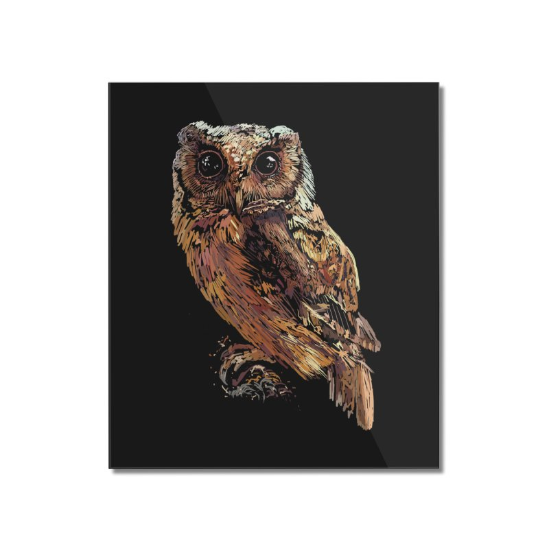dark owl Home Mounted Acrylic Print by gupikus's Artist Shop