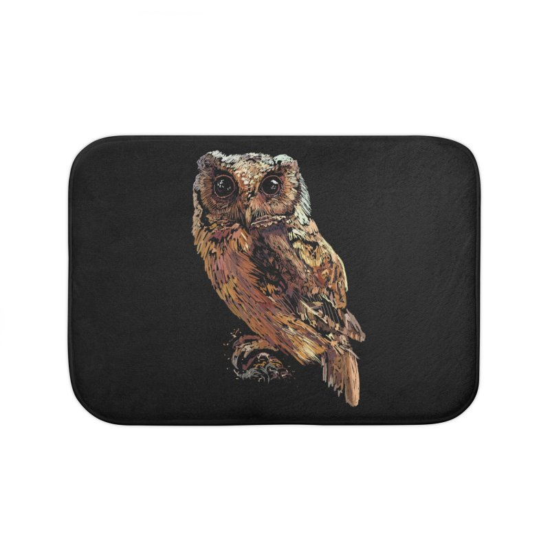 dark owl Home Bath Mat by gupikus's Artist Shop