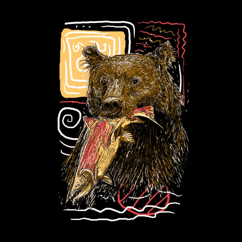 eat bear Women's Longsleeve T-Shirt by gupikus's Artist Shop