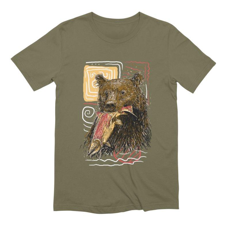 eat bear Men's Extra Soft T-Shirt by gupikus's Artist Shop