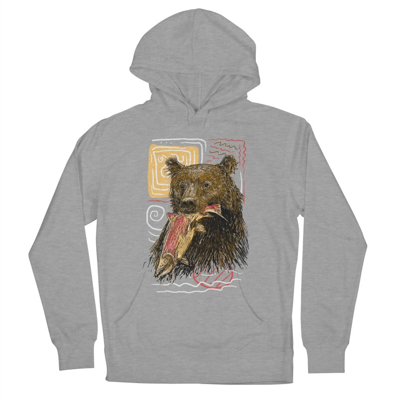 eat bear Women's French Terry Pullover Hoody by gupikus's Artist Shop