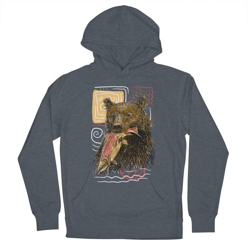 eat bear Men's Pullover Hoody by gupikus's Artist Shop
