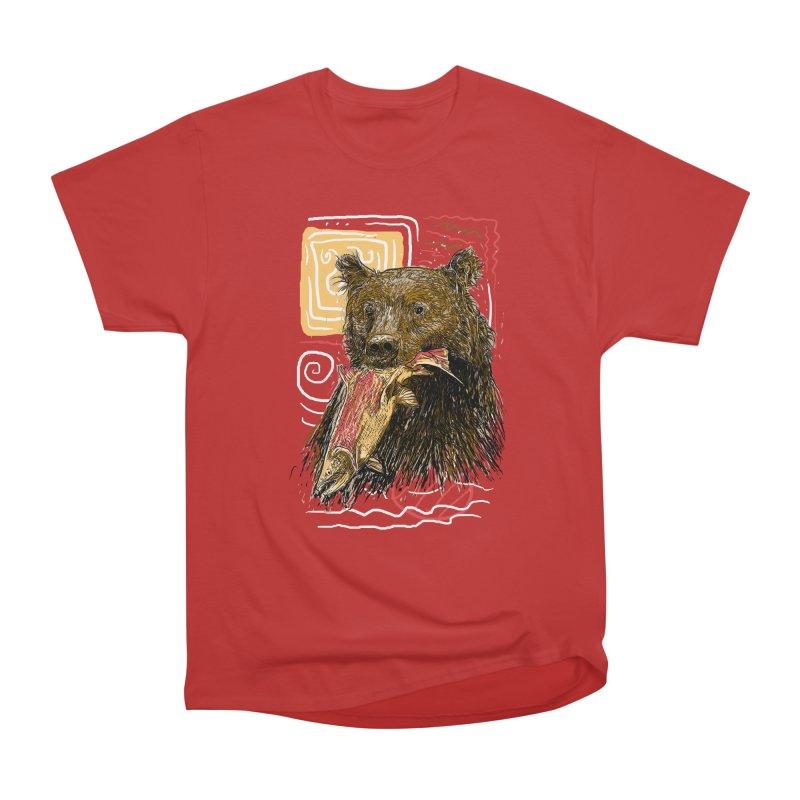 eat bear Women's Heavyweight Unisex T-Shirt by gupikus's Artist Shop