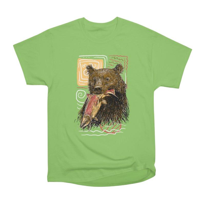 eat bear Men's Heavyweight T-Shirt by gupikus's Artist Shop