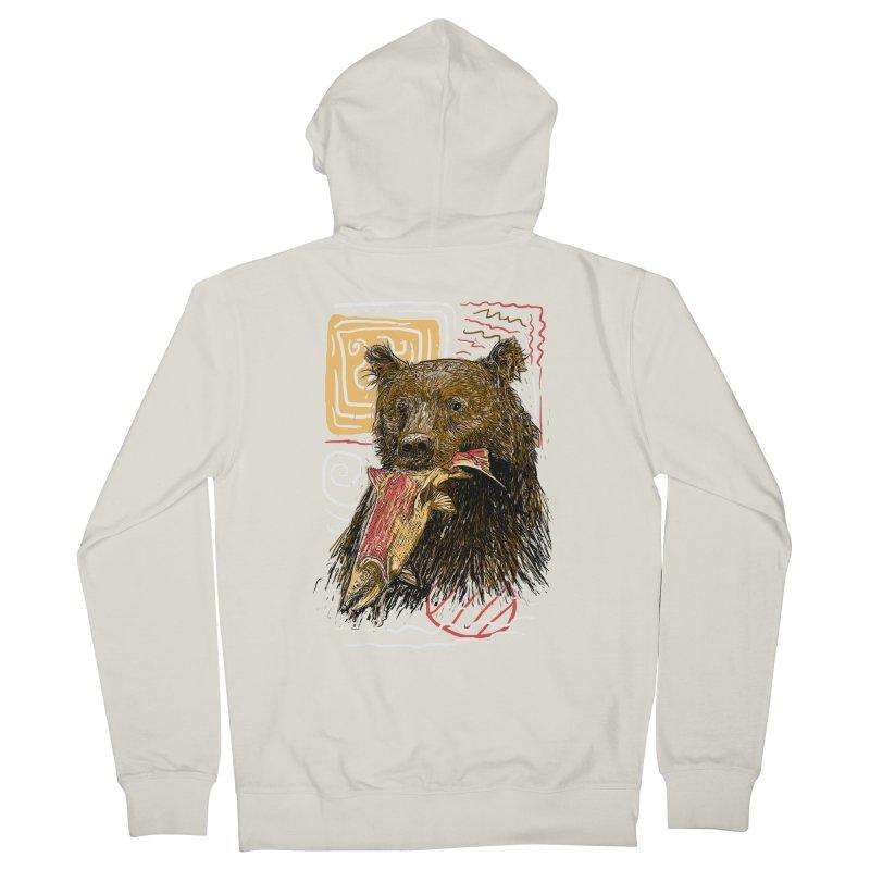 eat bear Women's French Terry Zip-Up Hoody by gupikus's Artist Shop